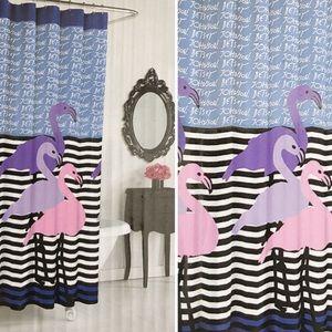 BETSEY JOHNSON Flamingo Trio Shower Curtain